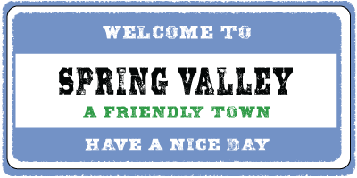 A Sign That Says Welcome to Spring Valley
